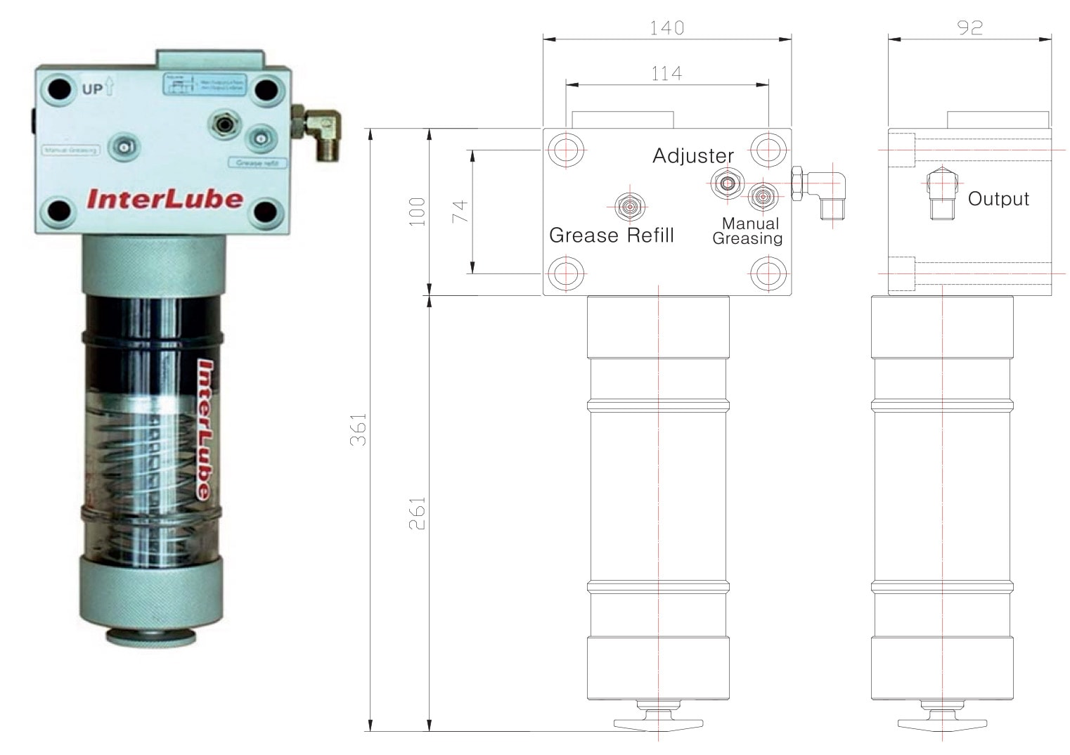 Hydraulic breaker grease pump