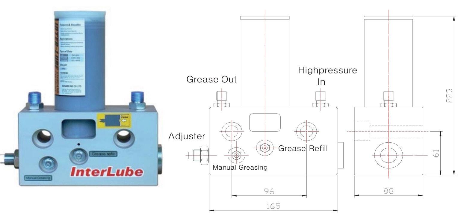 Automatic Grease system for hydraulic breakers