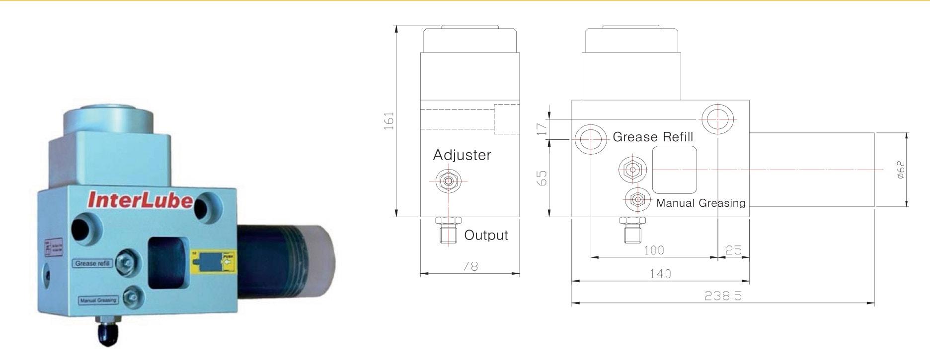 Breaker lubrication grease pump