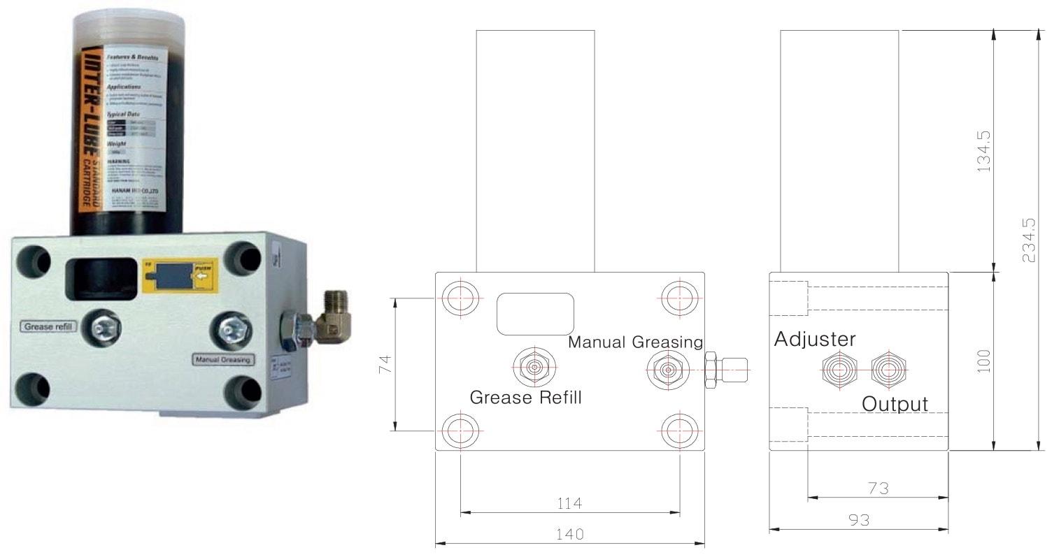 Hydraulic breaker lubrication system